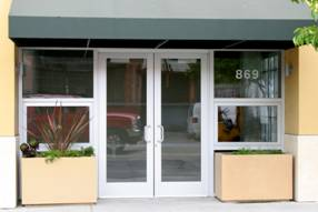 Glass Aluminum Storefront Doors | R&S Overhead Door Company